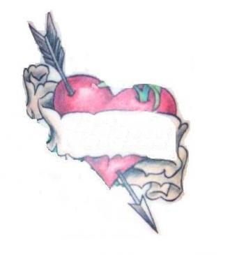 Tatouage coeur avec fl che tatouage coeur prenom - Image tatouage coeur ...